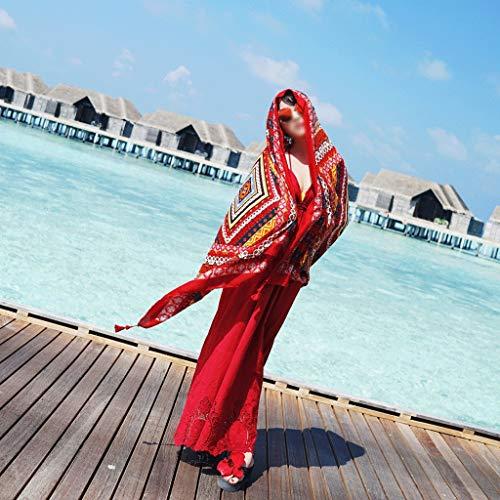 Cotone Per Con Gxy Lino Da Sciarpa E Asciugamano Frangivento Spiaggia In Femminile Donna Seta La wqZanxq