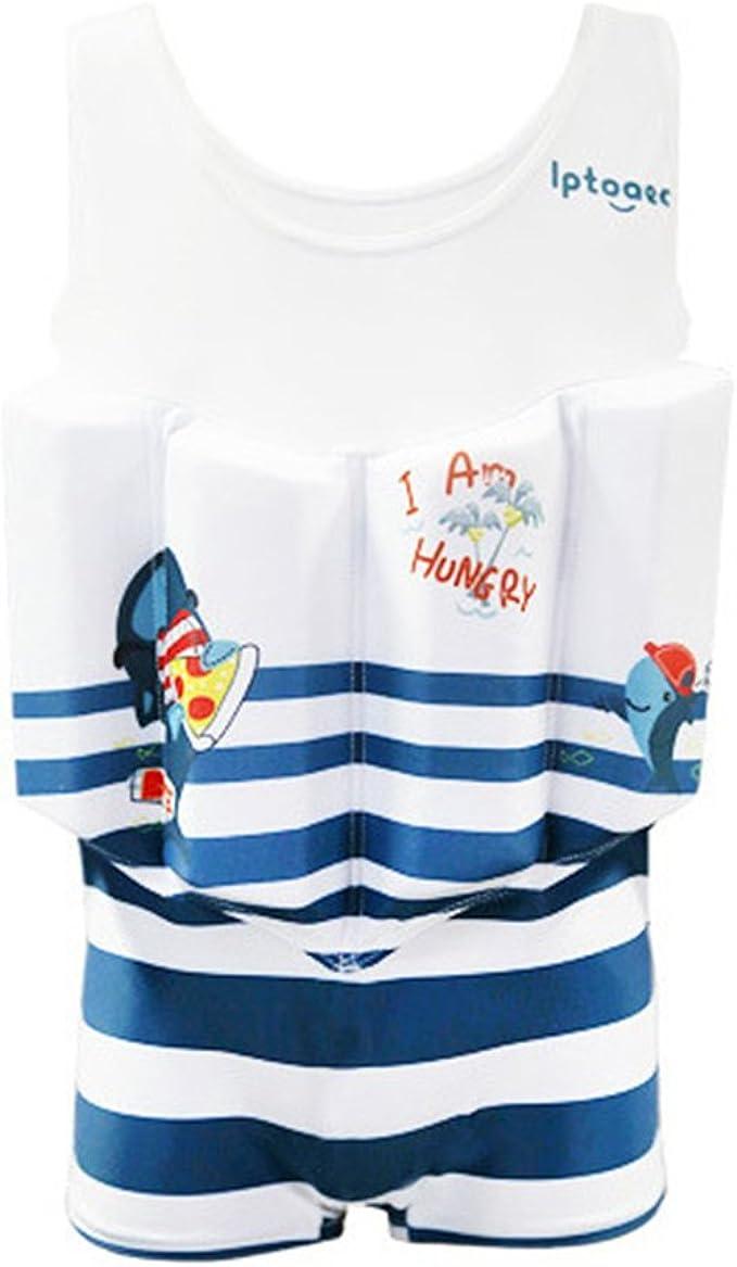 Kids One Piece Buoyancy Swimsuit Baby Sleeveless Swimming Costume Swim Training Gogokids Boys Float Suit Floating Swimwear