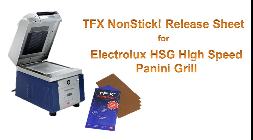 TFX Nonstick! 20215400-30 Sheet for Electrolux HSG Sandwich & Panini Press (24 Pack), Brown, 8-1/2 x 15-3/4''