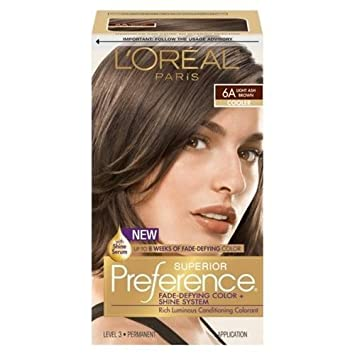 Nice Loreal Superior Preference   6a Light Ash Brown, (Pack Of 3)
