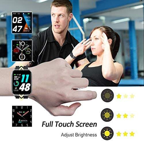 Mgaolo Fitness Tracker Smart Watch with Blood Pressure Heart Rate Sleep Monitor for Men and Women, Touch Screen 11 Sport Modes Waterproof Activity Tracker with Pedometer for Android and that iPhone