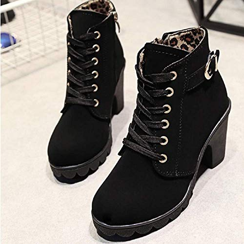 Nero Martin Autunno Nero 41 Boots 35 Tacco Bassi Donna con Invernali Stivali Pelliccia Stivaletti Rosso Ankle Caviglia Stivali 8wWOq1xR