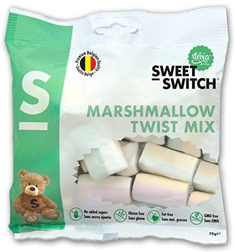 Price comparison product image Sweet-Switch Sugar Free Marshmallow Twist Mix 70g (Pack of 3)