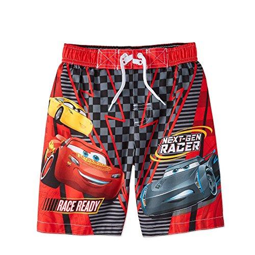 Lightning Mcqueen Short - Disney Cars Lightning McQueen Boy Swim Trunks Shorts Size 5/6