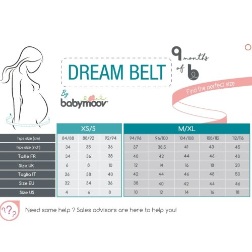 Babymoov Dream Belt Sleep Aid | Maternity Sleep Support & Wedge for Ultimate Comfort During Pregnancy (M/XL)