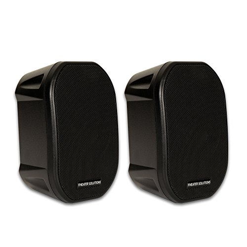 Theater Solutions TS38B Mountable Indoor or Outdoor Speakers
