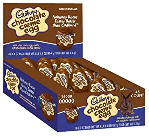 Cadbury Easter Chocolate Creme Egg 48 Count, 1.2-Ounce