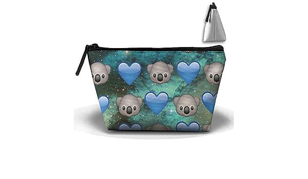 Mujer niña Emoji Koala bolsa de aseo/Organizador de maquillaje/cosméticos bolsa/portátil Kit de viaje organizador/hogar/Unidades de almacenamiento baño almacenamiento para negocios, vacaciones, hogar: Amazon.es: Hogar