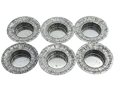 Tea Light Candle Holder Metal Lid Inserts for Regular Mouth Mason, Ball, Canning Jars, 6 Pack