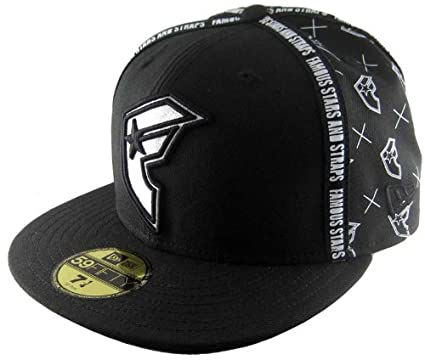 036b08e2985718 Famous Stars and Straps Taped New Era in Black, Size: 7 5/8: Amazon.co.uk:  Clothing