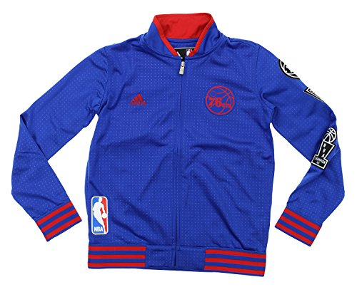 NBA Adidas Youth Big Boys (8-18) On Court Jacket, Philadelphia (Adidas Philadelphia 76ers Sweatshirt)