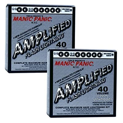 Manic Panic **2 pack** Flash Lightning Hair Bleach Kit 40 Volume by Manic Panic