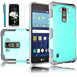 LG Tribute 5 Case, LG K7 Case, EC™ Ultra Slim Hybrid Armor Dual Layer PC Hard Shell with Shock-Absorption Soft Rubber Inner Bumper Protective Case for LG K7 / LG Tribute 5 (Turquoise+Grey)