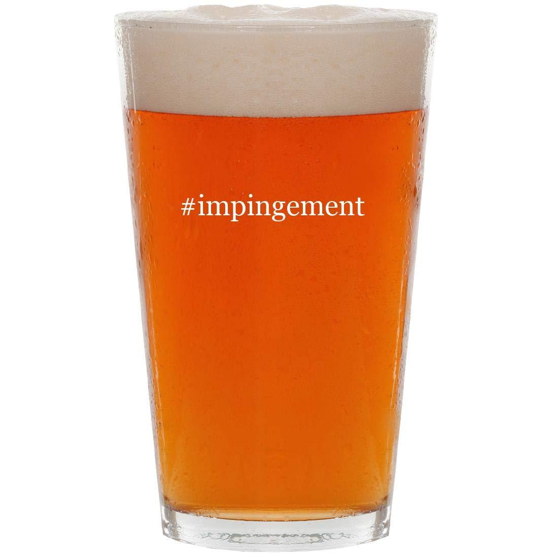 #impingement - 16oz Hashtag Pint Beer Glass