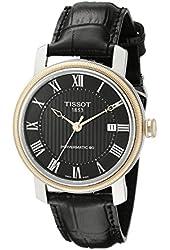 Tissot Men's T0974072605300 Bridgeport Analog Display Swiss Automatic Black Watch