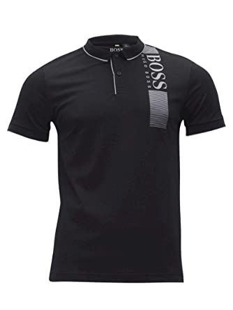 3e03ff617b8 Amazon.com: Hugo Boss Men's Pl-tech Large Logo Polo: Clothing