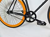 Matte Black and Orange Fixie with Dropbars Single Speed Fixie Bike with Flip Flop Hub By Sgvbicycles Fixies