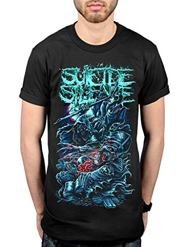 Silence Mens Hoodie - Official Suicide Silence Grim Reaper T-Shirt Deathcore Music Album Chris Garza