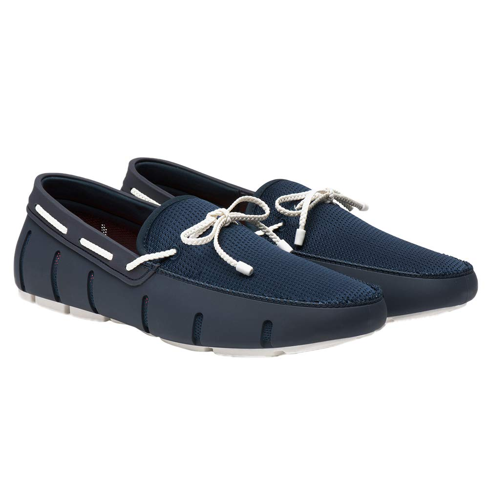 Navy White Swims Braided Lace Loafer