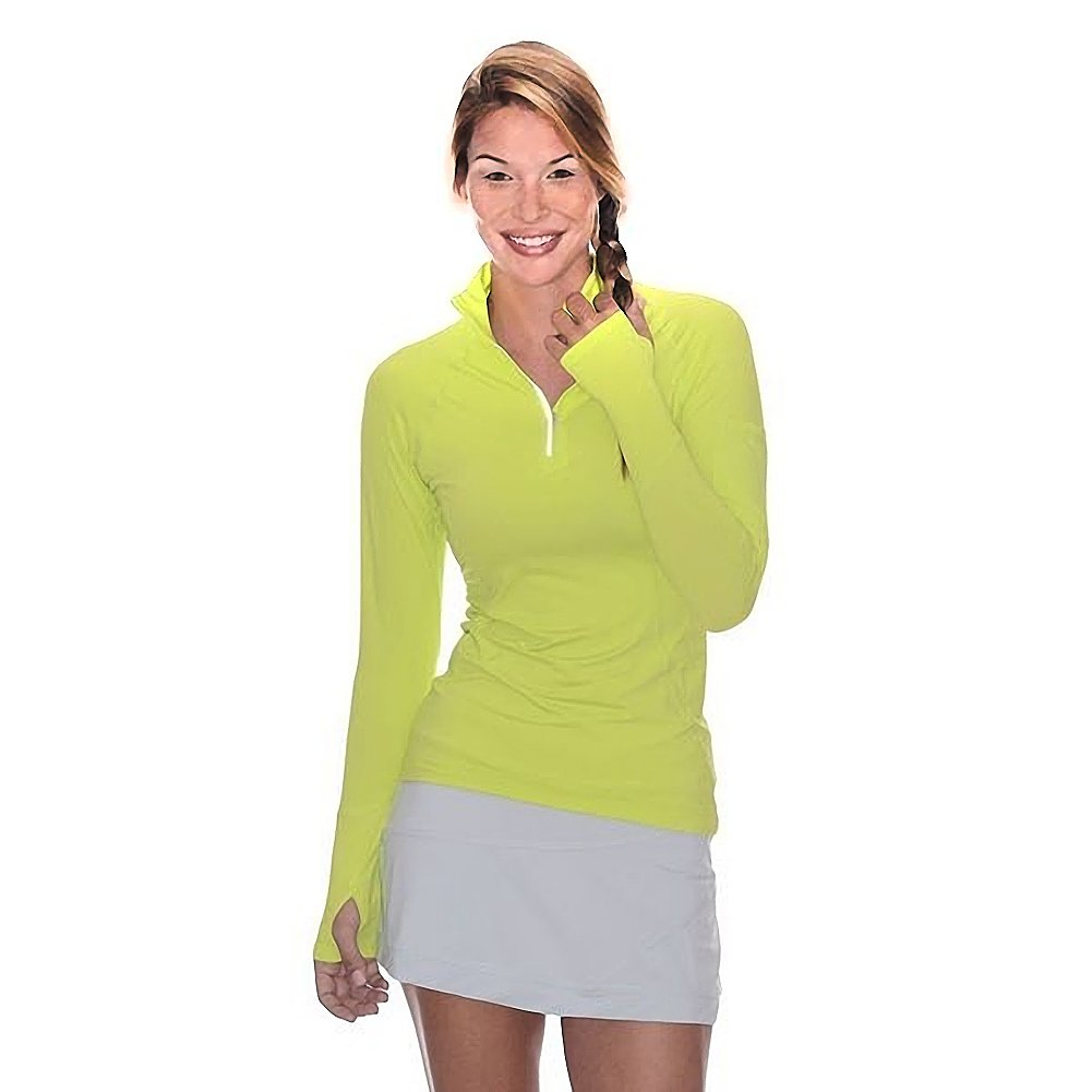 BloqUV Women's Mock Zip Hoodie, Key Lime, X-Small by BloqUV (Image #1)
