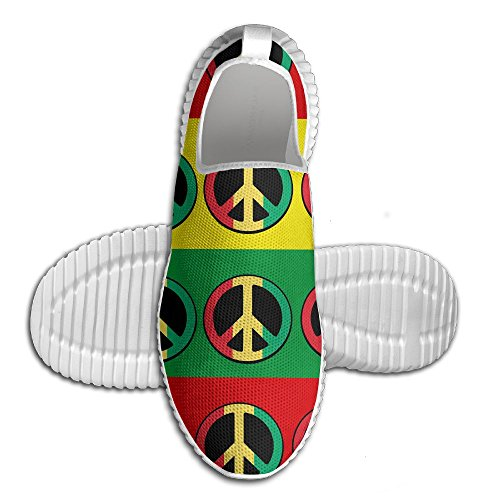 Rasta Peace Sign Unisex Lightweight Casual Athletic Comfortable Running Shoes Sneakers 41