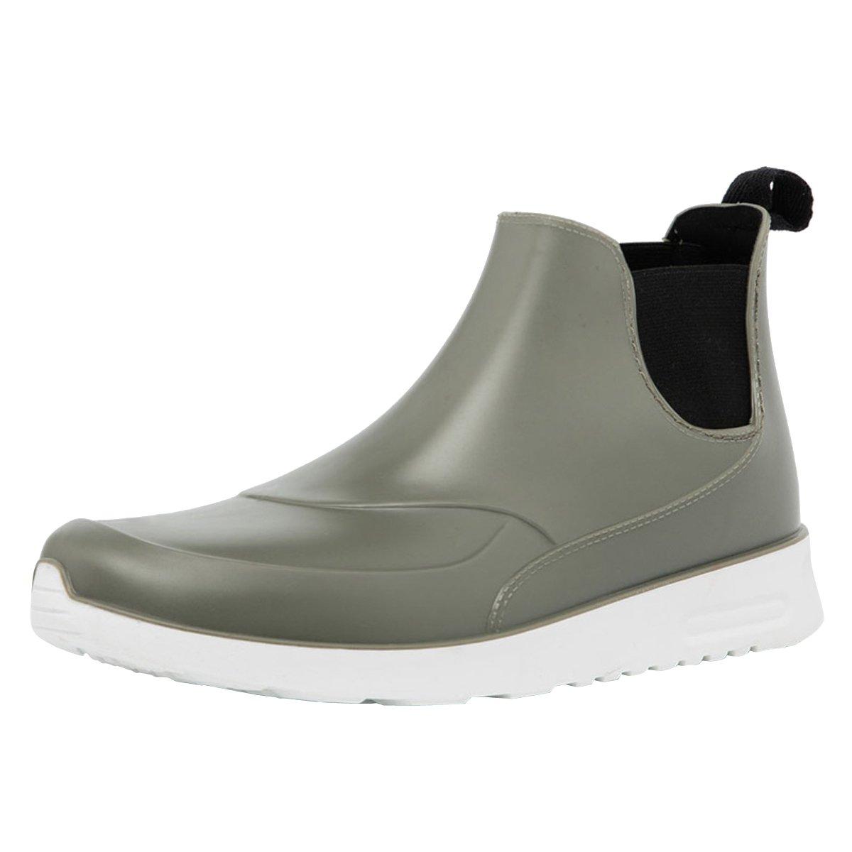 Dear Time Men Rain Boot Slip-On Flat Ankle Boots Waterproof Shoes US 7.5