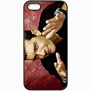 Personalized iPhone 5 5S Cell phone Case/Cover Skin Antonio Banderas Actor Man Emotions Gestures Black