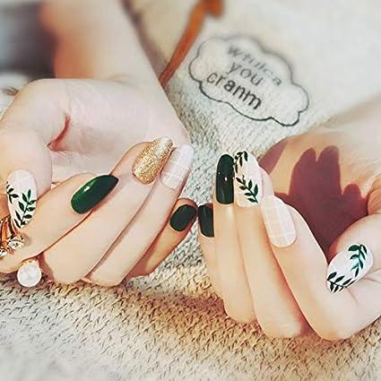 Interookie 24 piezas uñas postizas artificiales con ...