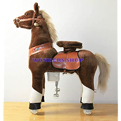 Ponycycle Pony Cycle Ride On Horse size MEDIUM BROWN: Sports & Outdoors