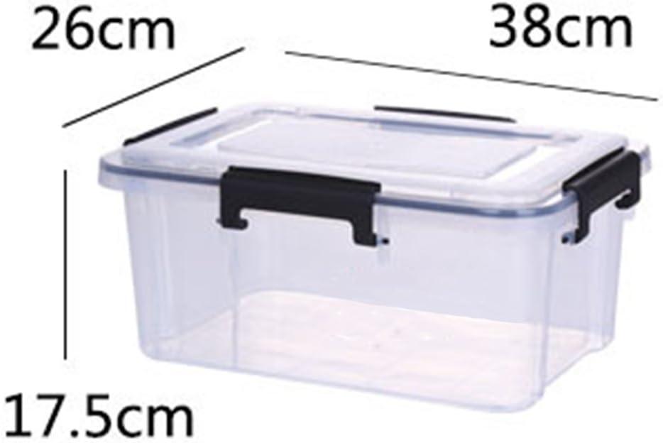 Caja de almacenaje CT-Tribe - Caja hermética de almacenaje, caja transparente de plástico, capacidad de 26,4 libros, con tapa, pp, transparente, S: Amazon.es: Hogar