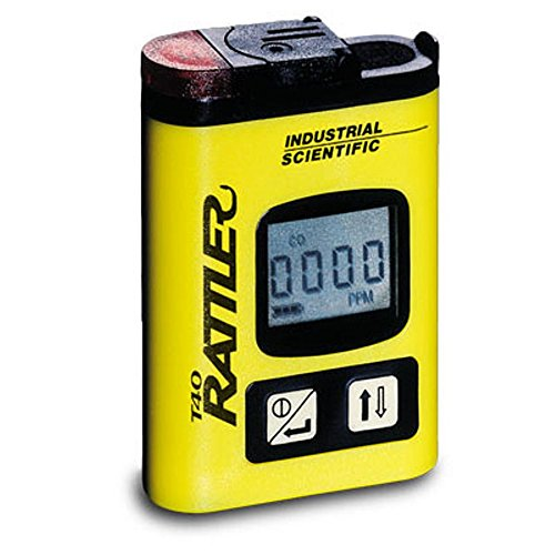 Carbon Monoxide Single Gas Monitor (T40 Rattler Portable H2S Monitor w/alarm, Hydrogen Sulfide Gas Monitor)