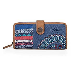 SKPA T - BILLETERO ESTAMPADO, Color Azul: SKPA T: Amazon.es ...