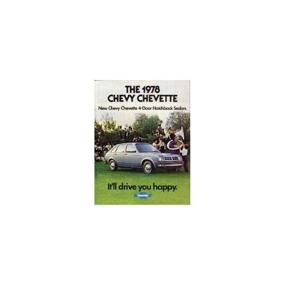 1978 CHEVROLET CHEVETTE Sales Brochure Literature Book