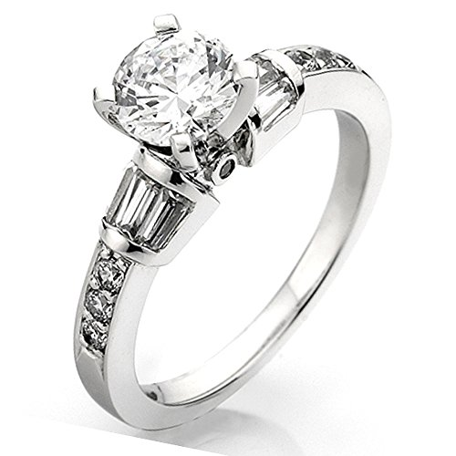 0.33 Carat (Ctw) 14k White Gold Round Diamond Ladies Bridal Semi Mount Engagement Ring 1/3 CT (No Center Stone) (Size 6)