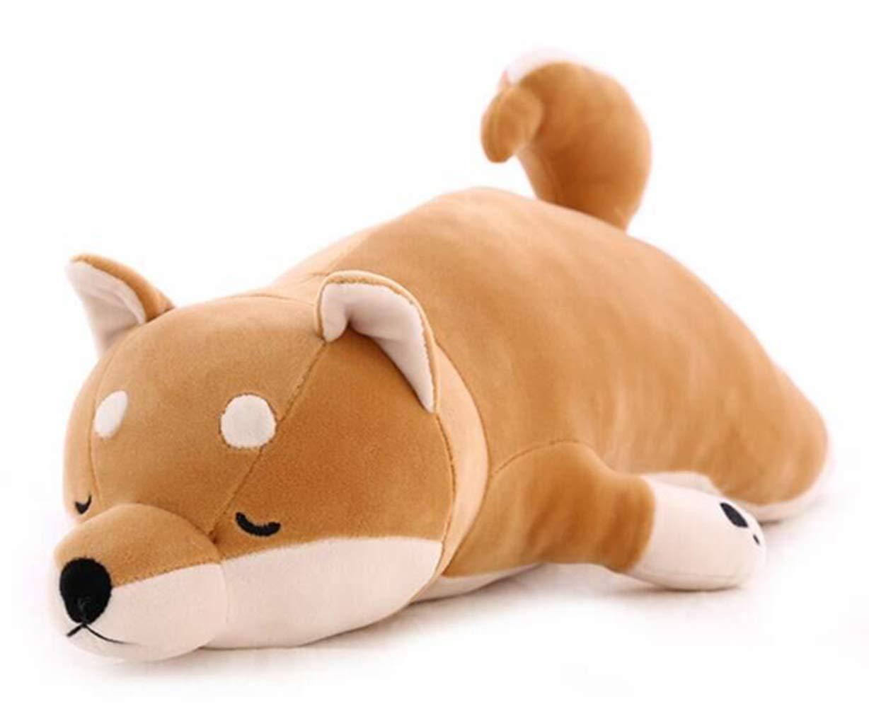 Good Night Shiba Inu Abrazando la Almohada Felpa Suave niños Dormir Comodidad cojín Juguetes, 30'' 30'' Good Night Good Dream