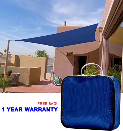 Retractable Awnings Home Depot (Quictent 20 X 16 ft 185G HDPE Rectangle Sun Sail Shade Canopy UV Block Top Outdoor Cover Patio Garden Blue + Free Carry Bag)