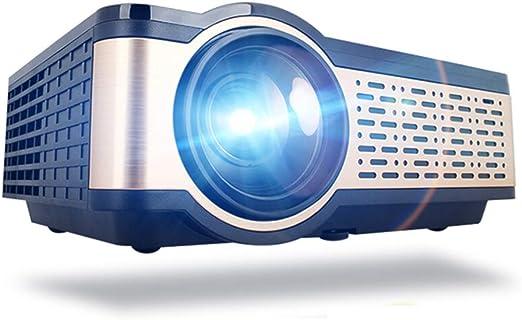 ZXY Real televisor de Alta definición de Mini proyector, proyector de WiFi del teléfono 4000 lúmenes HDMI USB VGA AV Ayuda 1080P portátil proyector de Cine: Amazon.es: Hogar