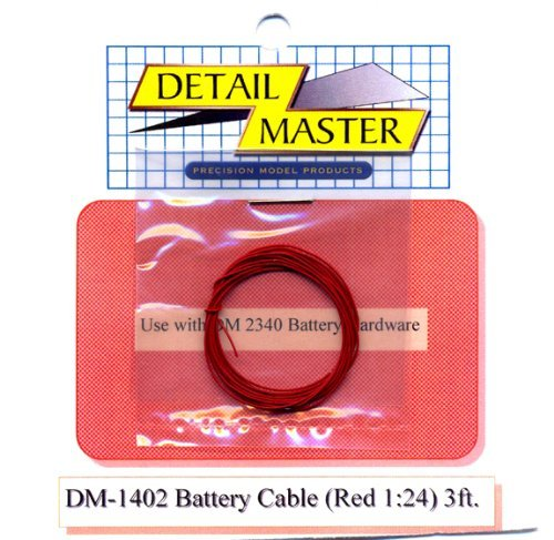 3ft. Battery Cable Red Detail Master