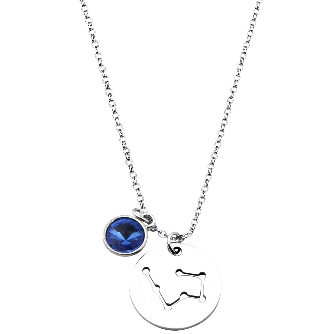 RagBear Star Sign Constellation Necklace Zodiac Aries Necklaces Leo Scorpio