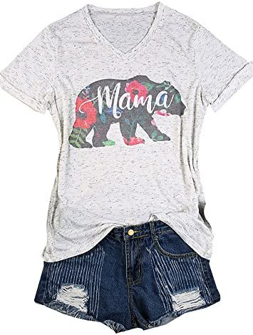 HRIUYI Womens Floral Printed T Shirt product image
