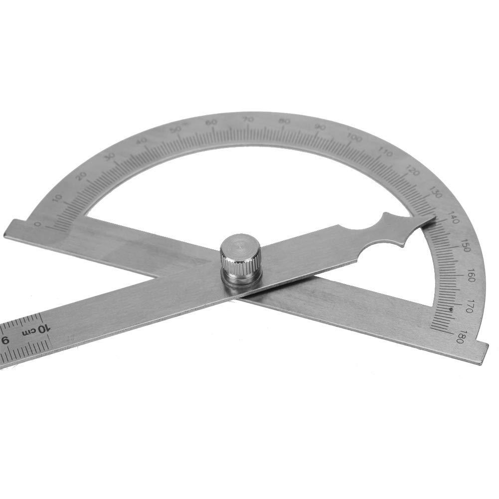 80 * 120 mm // 120 * 150 mm // 150 * 200 mm Taglia : 5.91 * 7.87in Angle Finder-0-180 gradi goniometro in acciaio inox goniometro angolo finder calibro 15 cm righello
