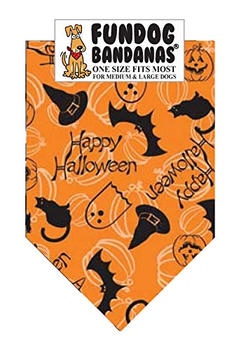 Happy Halloween Dog Bandana (One Size Fits Most