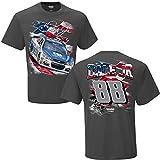 NASCAR Men's-USA-Driver Graphic T-Shirt-Dale Earnhardt Jr #88-Nationwide-Charcoal-Medium
