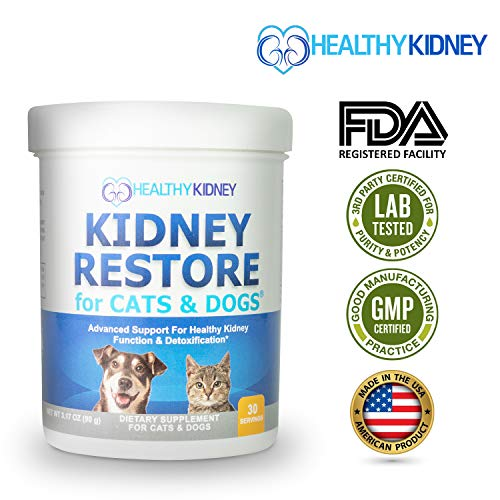 Cat and Dog Kidney Support, Natural Renal Supplements to Support Pets, Feline, Canine Healthy Kidney Function & Urinary Track. Essential for Pet Health, Pet Alive, Easy to Add to Cats & Dogs Food