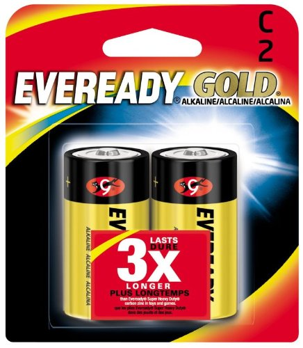 6 Pack Eveready Gold A93BP-2 C Alkaline Battery 2 per Package by Eveready