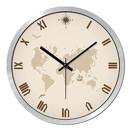 DIDADI Wall Clock Relojes personalizados y elegante reloj de pared de salón dormitorio moderno creativo silenciar ...