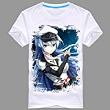 Onecos Akame ga KILL! Esdeath White T-shirt (Please Email Us Your Height ,Weight)