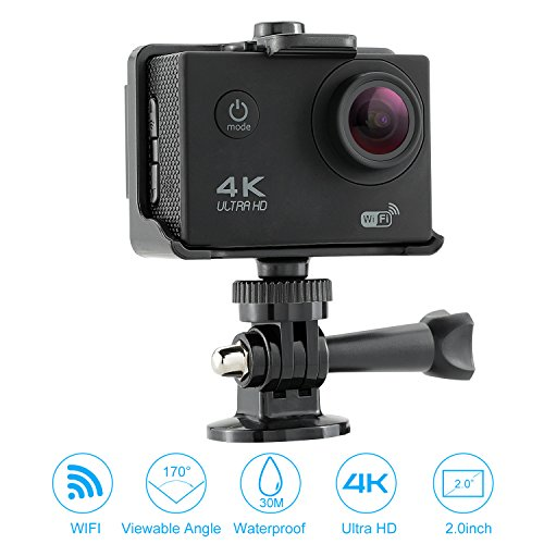 NEXGADGET 4K WIFI Action Camera, DISCOVER-S2R Series 16MP 170 Degree Wide Angle Waterproof Sports Camera with 2.4 G Remote Control