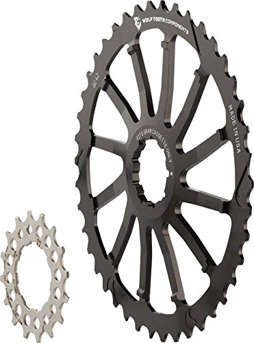 (Wolf Tooth Components GC 42 Cog and 16T Cog Bundle: For Shimano 11-36 10-speed cassettes, Black)