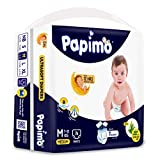 Papimo Baby Pants Diapers with Aloe Vera , Medium, 76 Count